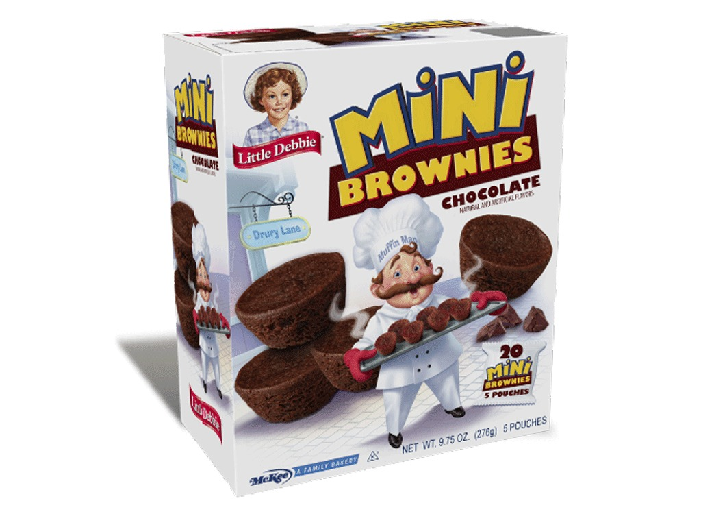 mini muffins: chocolate brownie