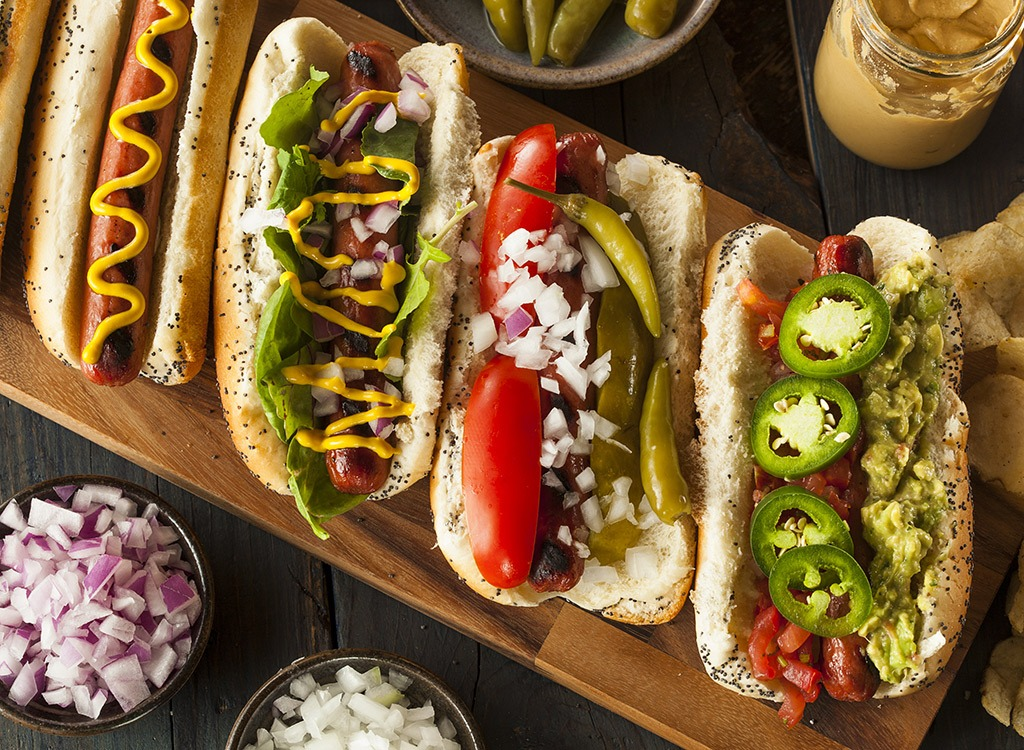 healthy tailgating foods for weight loss - hot dogs