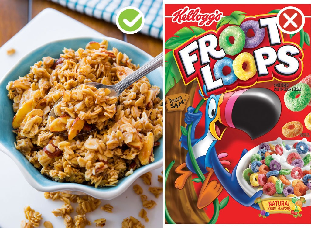 Ultraprocessed homemade swaps cereal