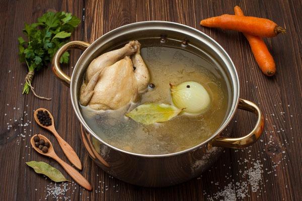 Chicken broth- pho