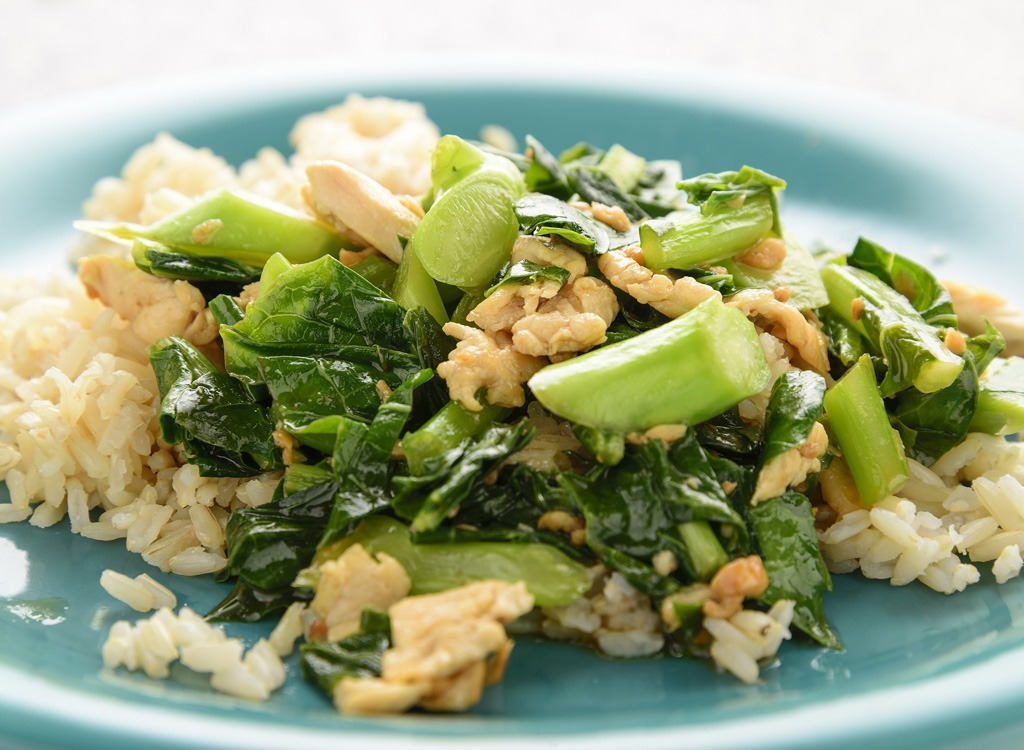 Brown rice and vegetables