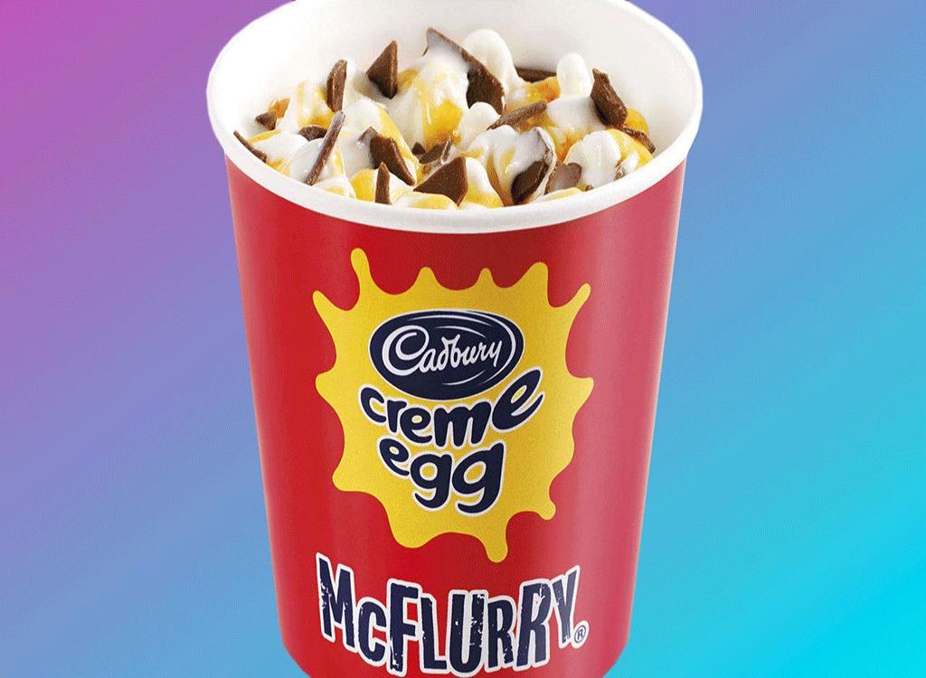 mcdonalds cadbury creme egg mcflurry