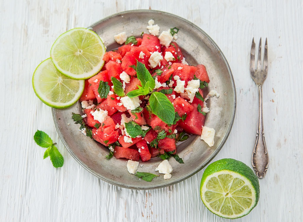 mint watermelon salad