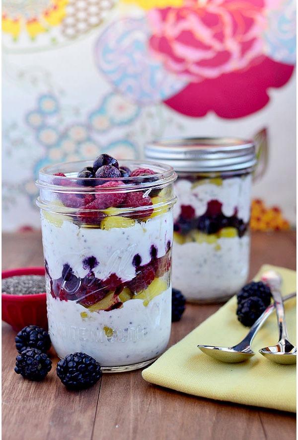 overnight oat recipes fruit parfaits
