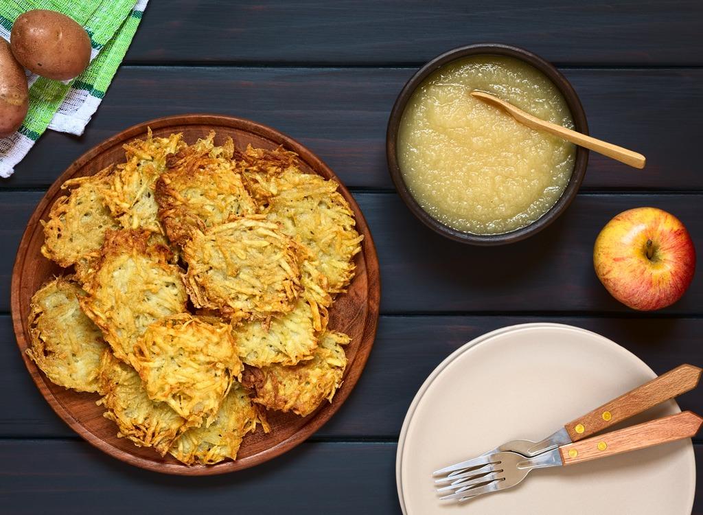 Holiday food potato pancake