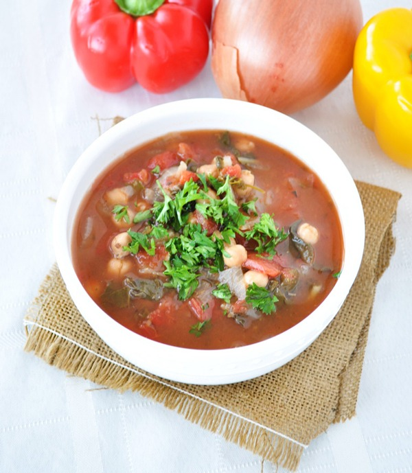 Chard and Chickpea Soup