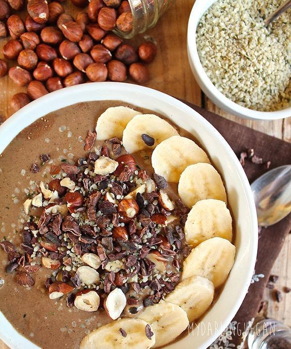 chocolate hazelnut hemp bowl