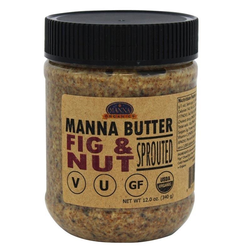 manna organics manna butter sprouted fig & nut