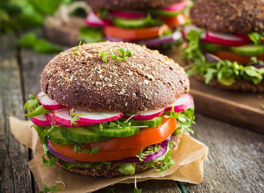 whole grain hamburger bun