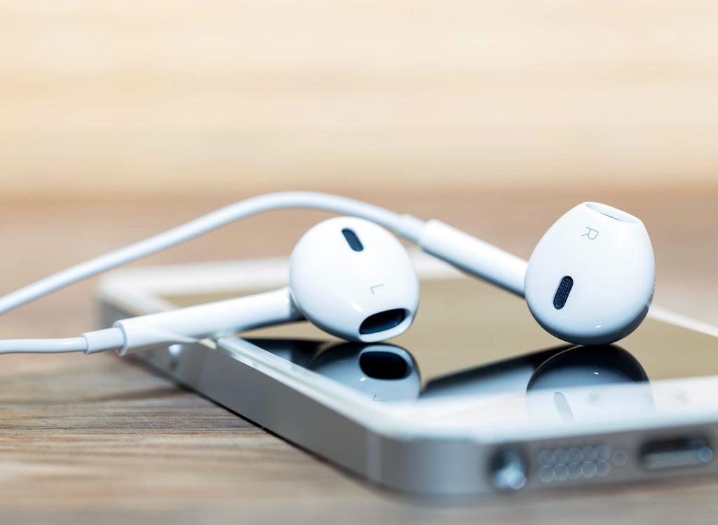 Headphones and iPhone