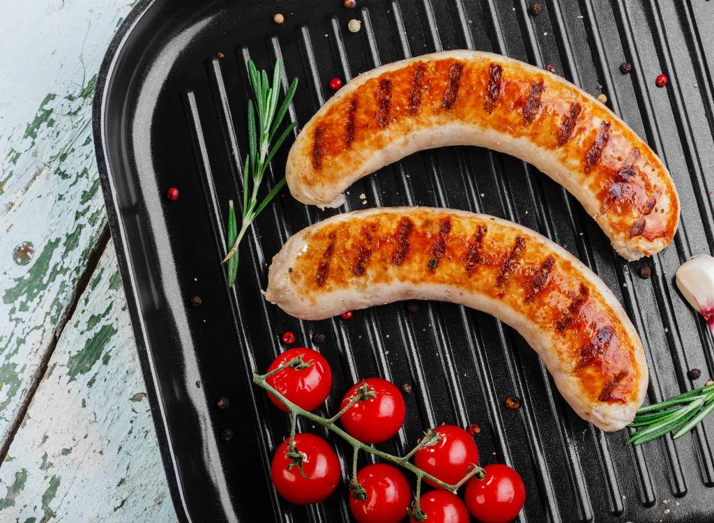 Chicken sausage grill