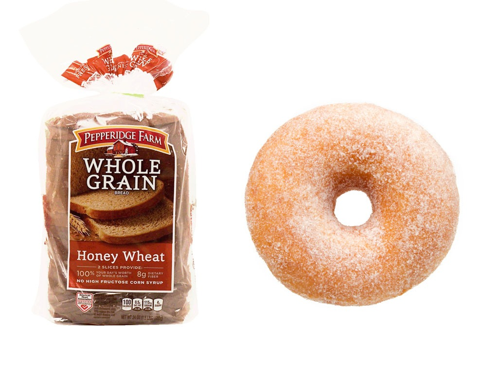 Foods worse than donut whole grain bread