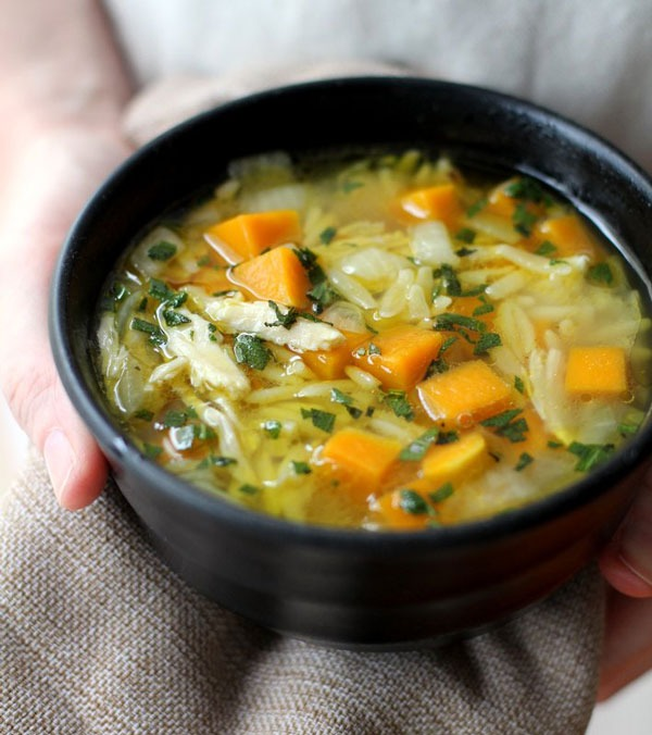 Chicken Butternut Squash and Orzo Soup