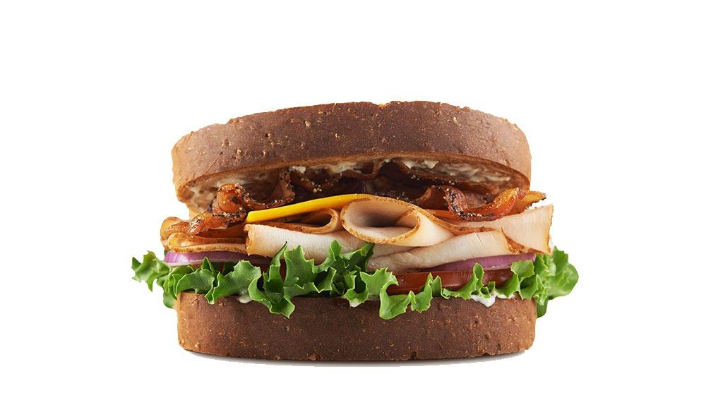 arbys roast turkey ranch and bacon sandwich
