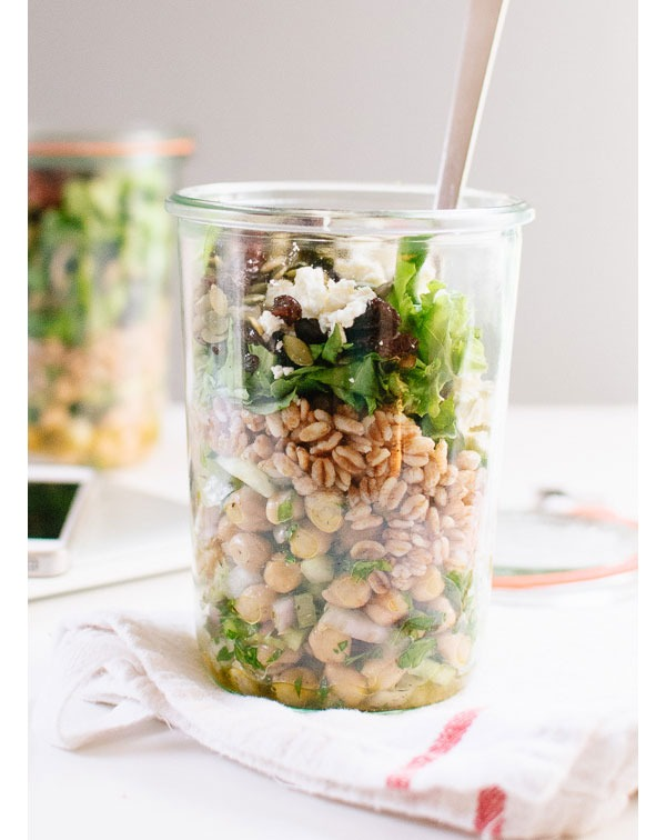 Desk lunch recipes chickpea salad