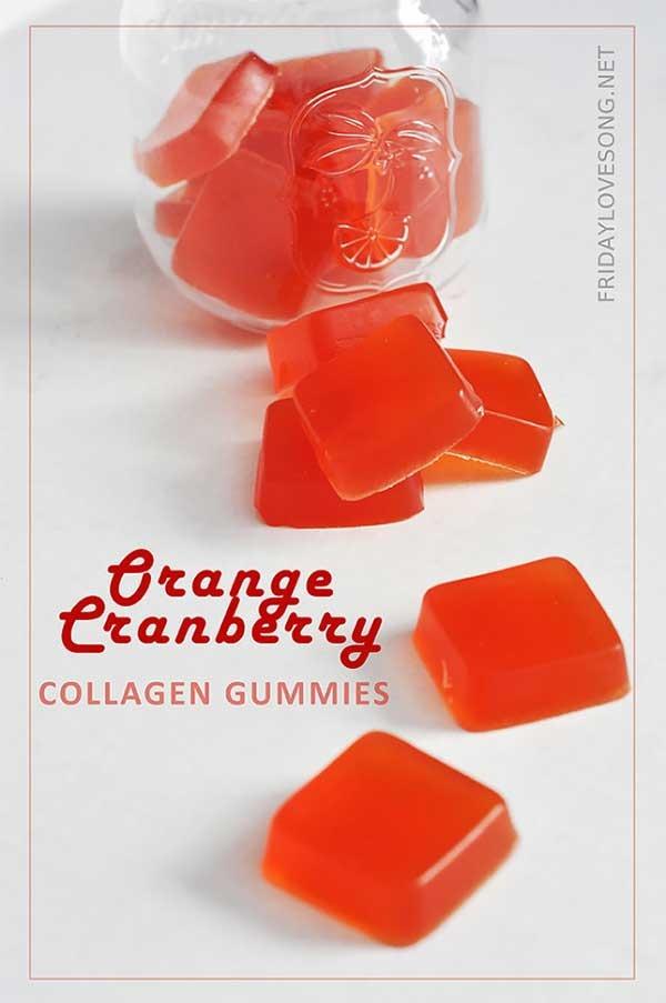15. Orange Cranberry Collagen Gummies