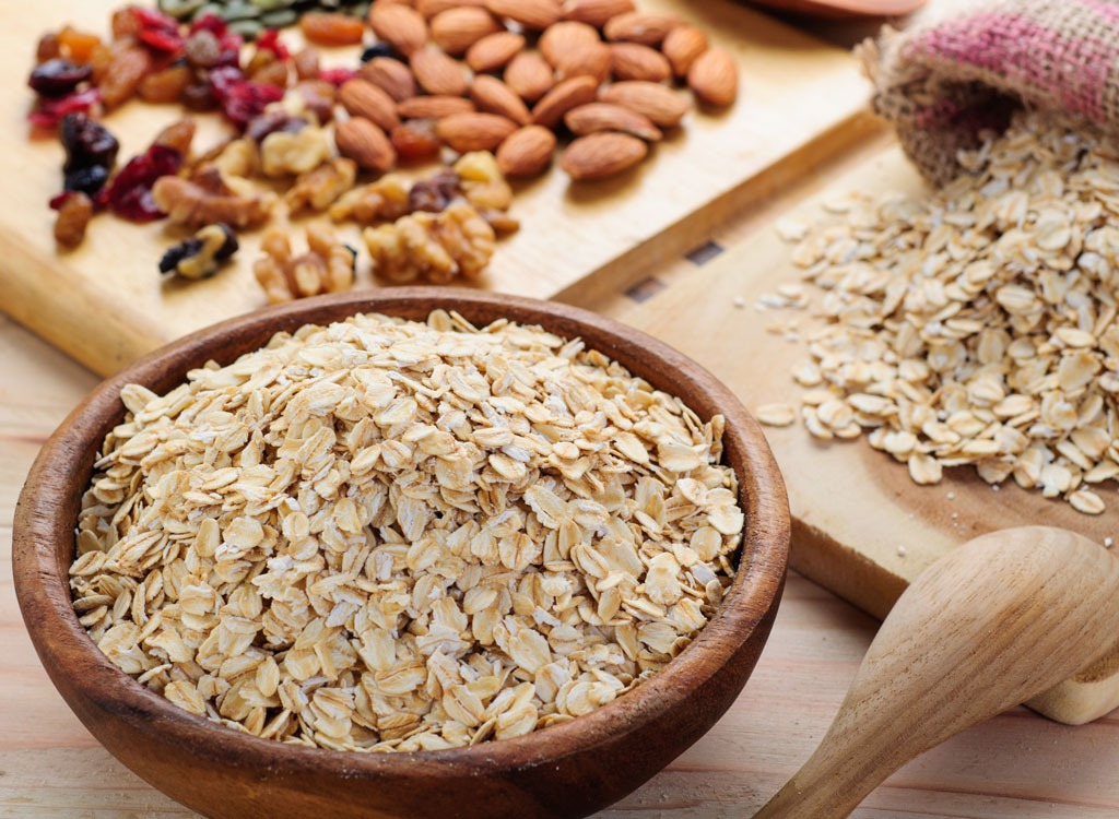 Oats and nuts and raisins - foods that make you poop