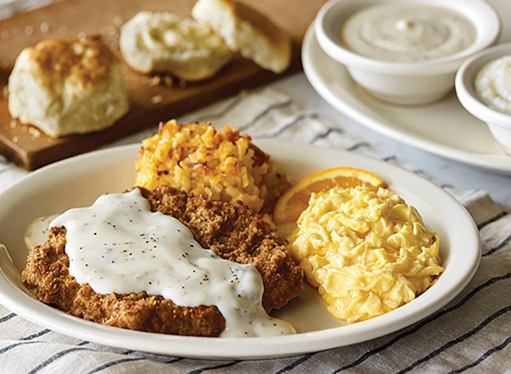 cracker barrel grandpas country fried breakfast
