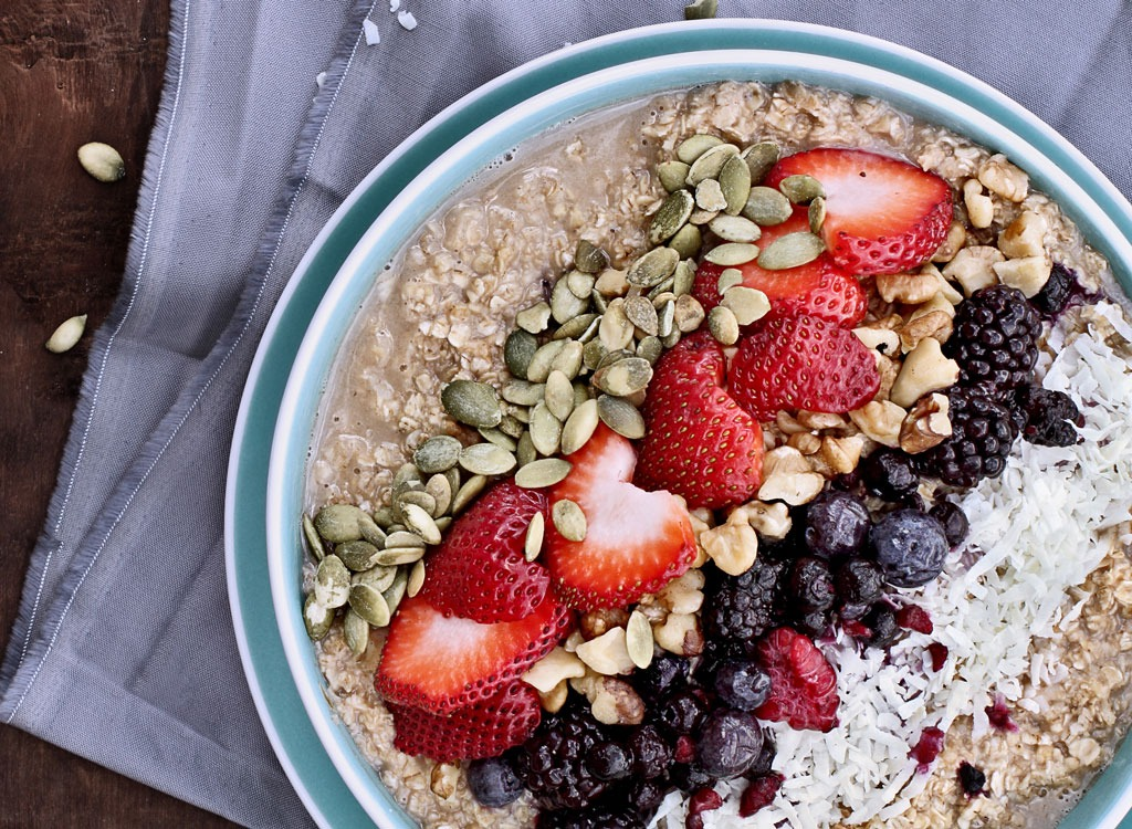 oatmeal toppings fruit seeds
