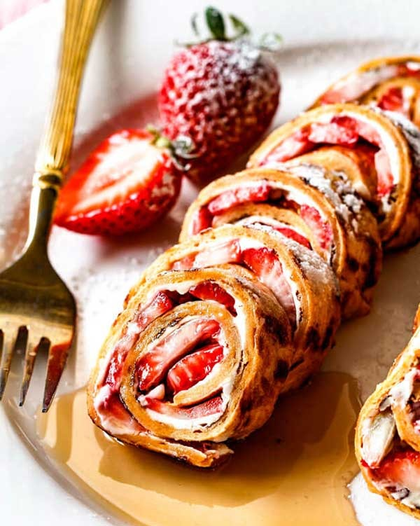 flatbread french toast roll ups