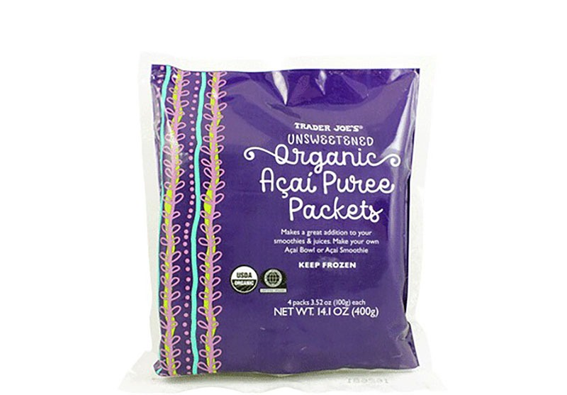 trader joes organic acai puree packets - best trader joe's frozen meals
