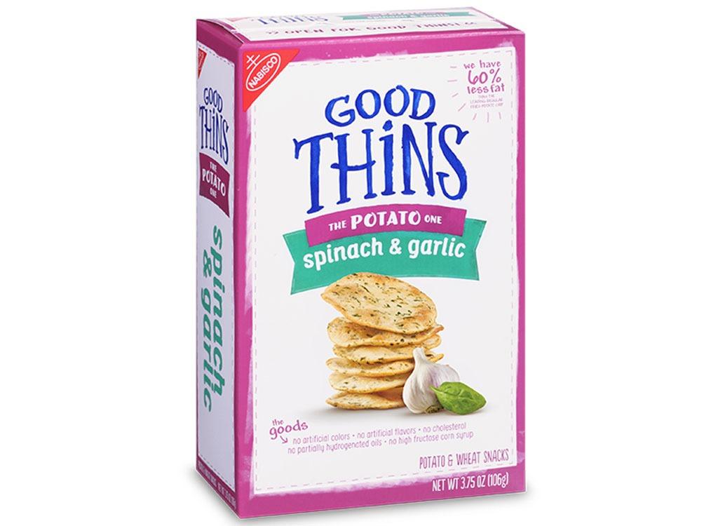 Good Thins Spinach and Garlic