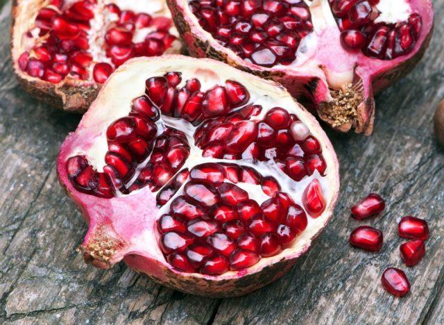 Sugary fruits ranked pomegranate