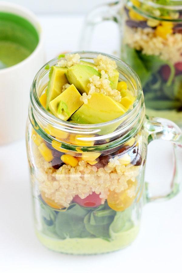 quinoa mason jar salads
