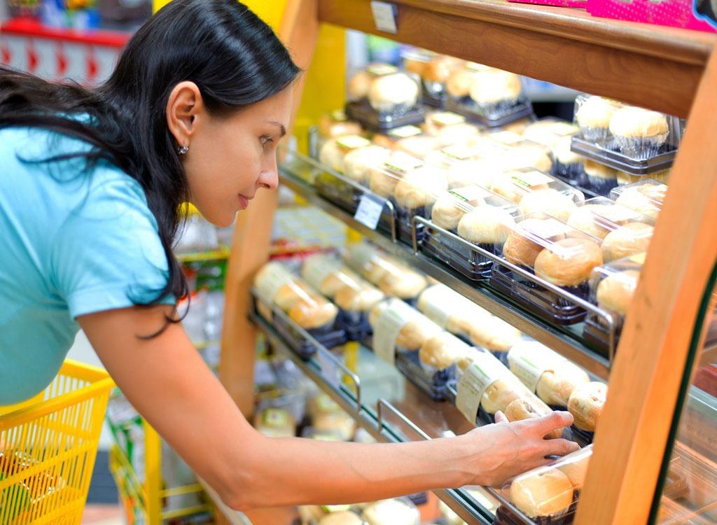 woman checking food
