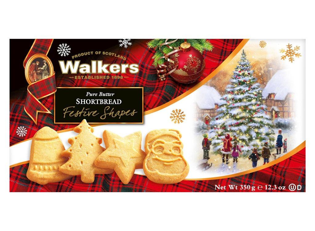 walkers shortbread festive shapes pure butter cookies