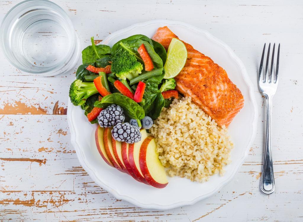 healthy plate overhead