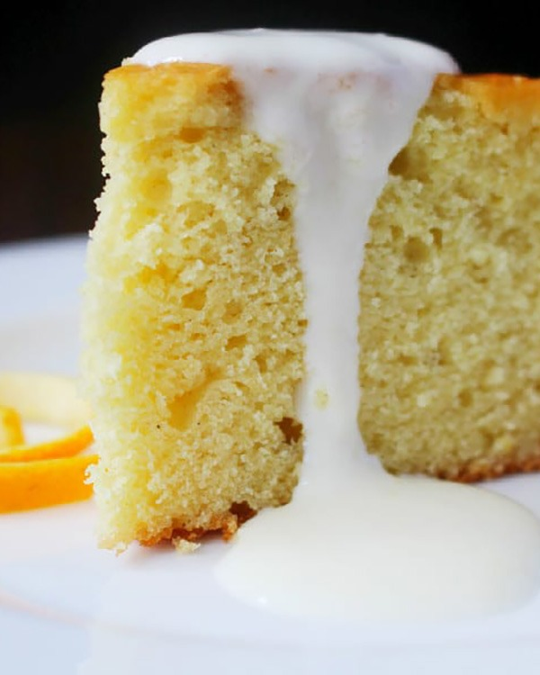 spaghetti squash cake with orange cream