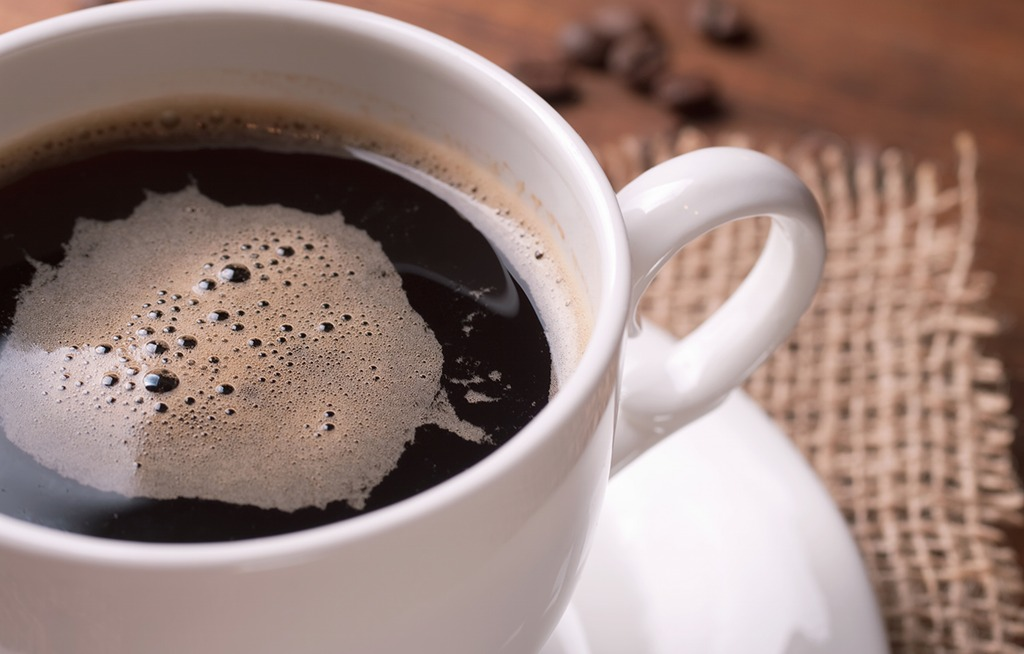 black coffee white cup