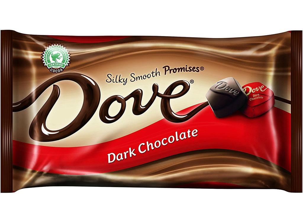 dove dark chocolate squares