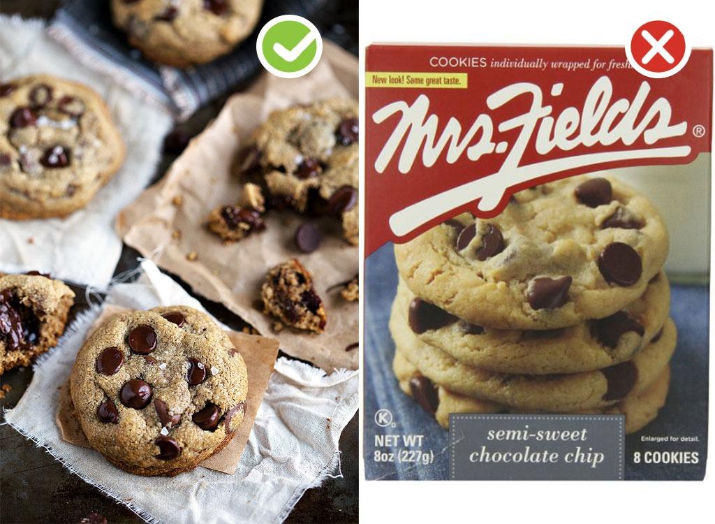 Ultraprocessed homemade swaps cookies
