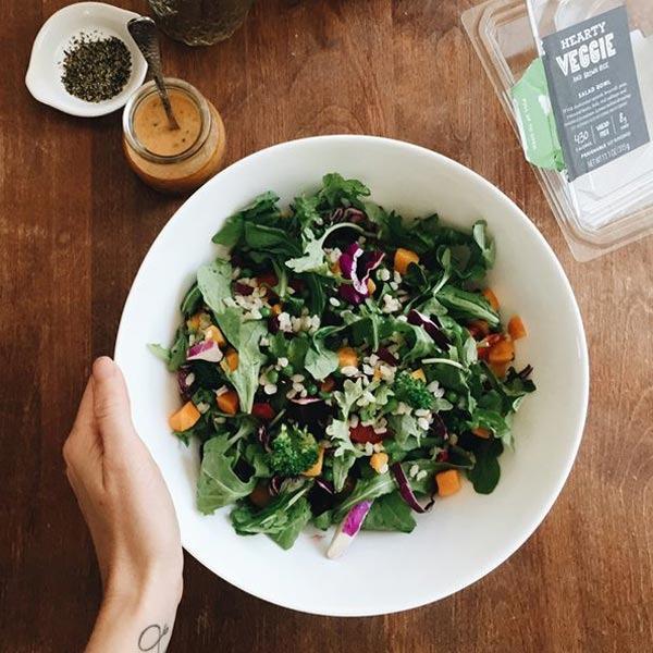hearty veggie salad