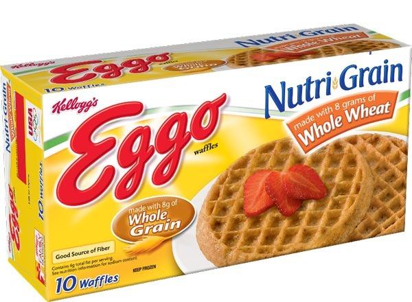 kelloggs eggo nutri-grain  whole wheat waffles