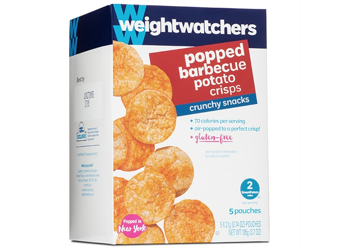 Weight watchers popped BBQ Potato Crisps