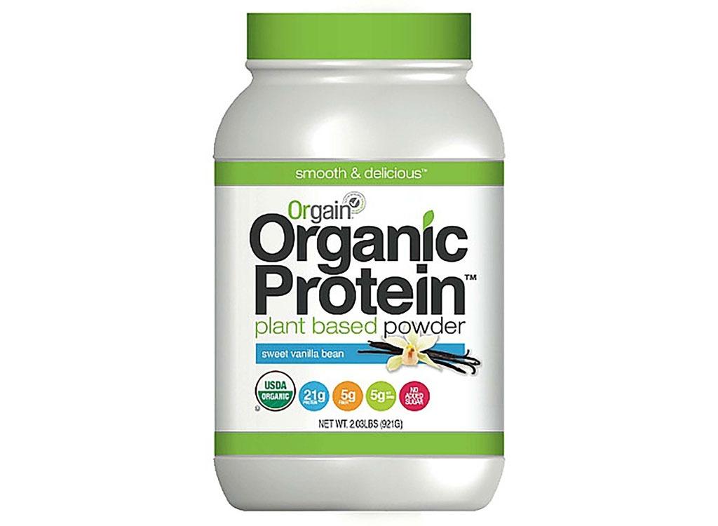 orgain organic protein sweet vanilla bean