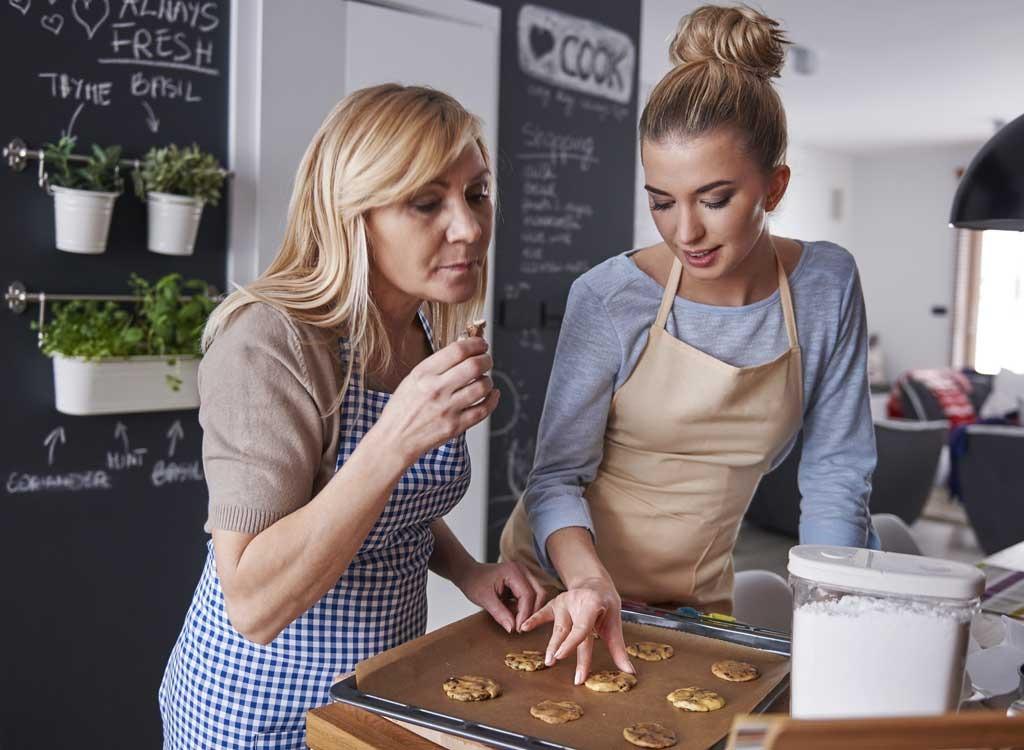 women baking cookies in kitchen - pb2