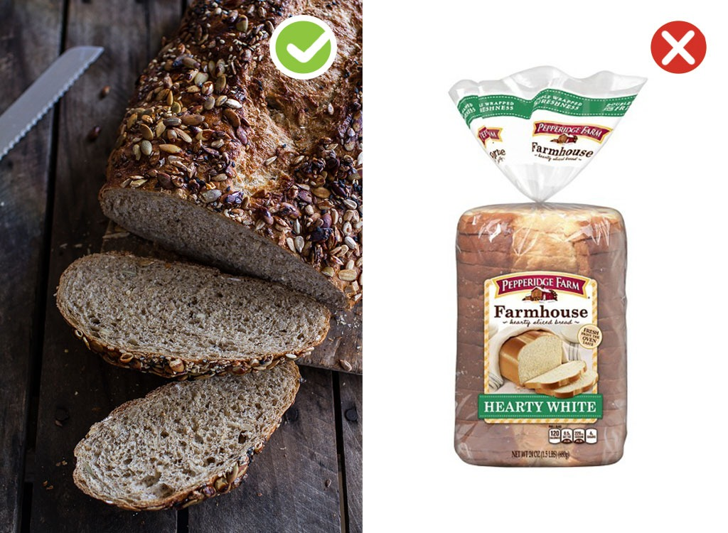 Ultraprocessed homemade swaps bread