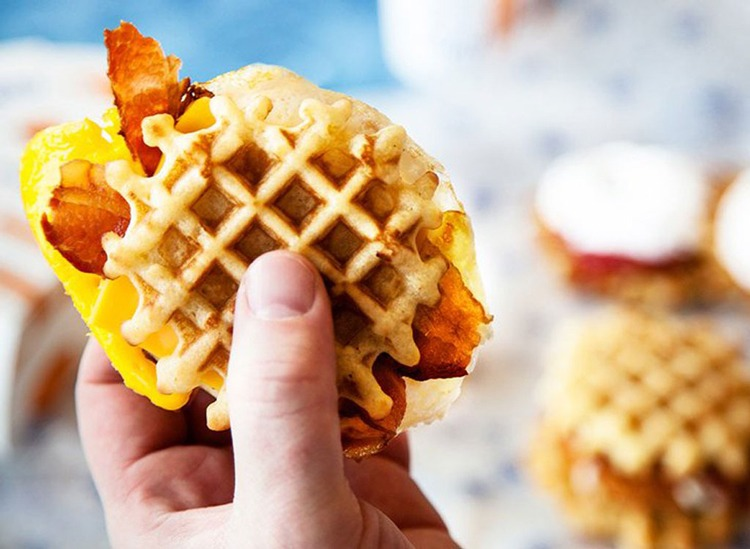 white castle bacon egg and cheese slider