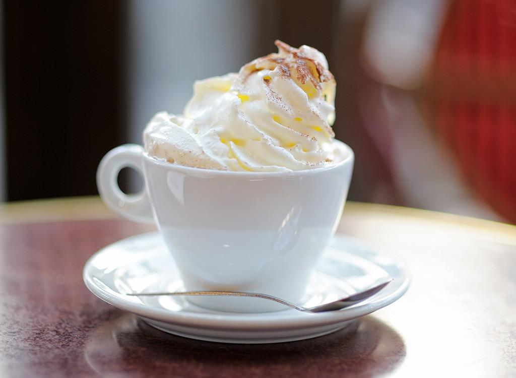 whipped cream coffee
