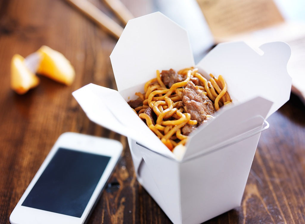 Chinese noodles takeout