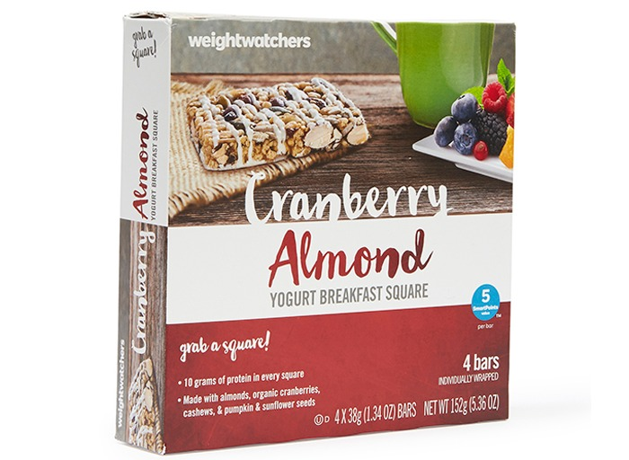 Weight watchers Cranberry Almond Yogurt Breakfast Square
