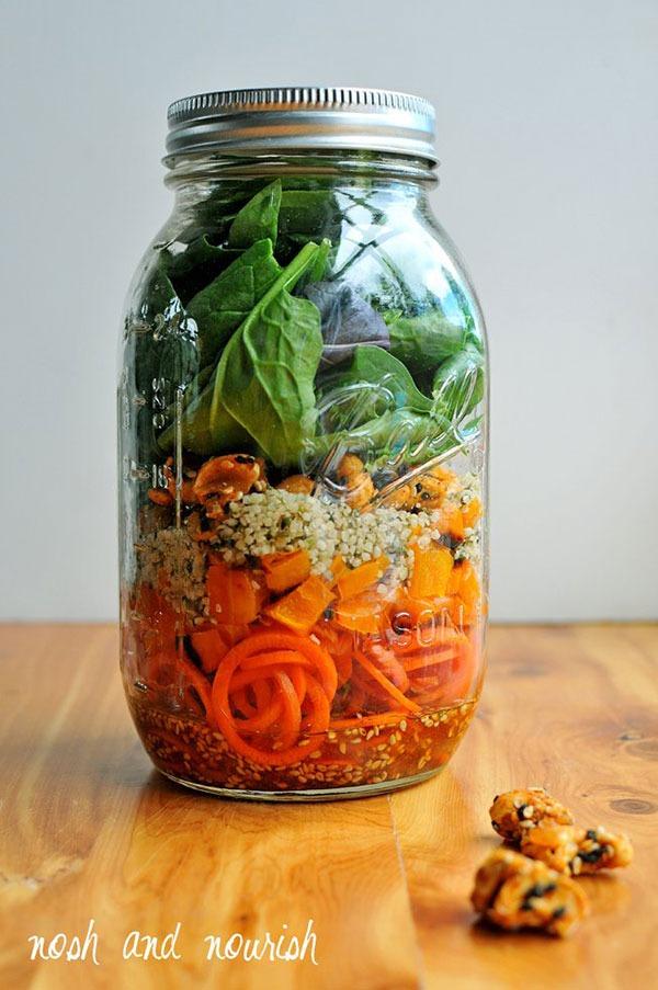mason jar salads carrot noodle