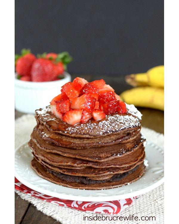 chocolate banana protein pancake recipe