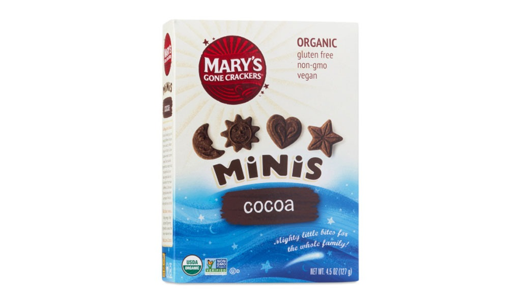 mary's gone crackers cocoa minis