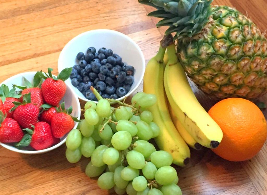 Pineapple bananas oranges grapes strawberries blueberries