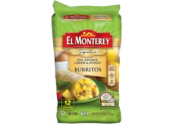 el monterey signature egg, sausage, cheese & potato burrito